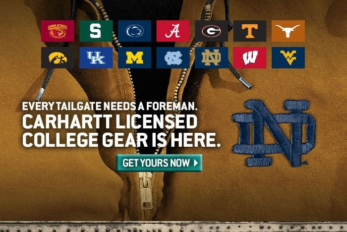 Click here to view the Carhartt licensed college collection