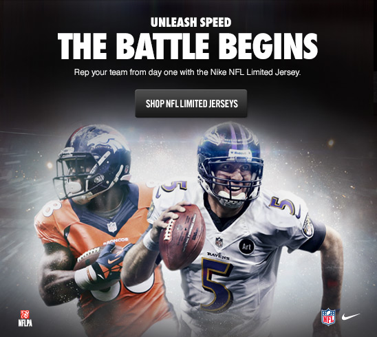 UNLEASH SPEED | THE BATTLE BEGINS | SHOP NFL LIMITED JERSEYS