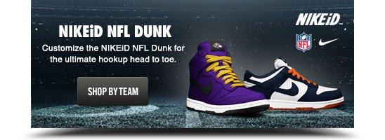 NIKEiD NFL DUNK | SHOP BY TEAM