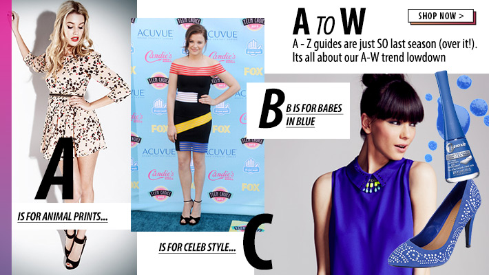 The A to W of Fashion - Shop Now