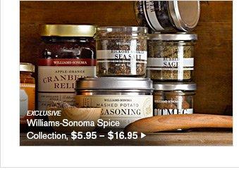 EXCLUSIVE - Williams-Sonoma Spice Collection, $5.95 - $16.95