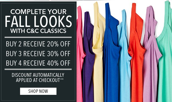 Buy More Save More on Classics Shop