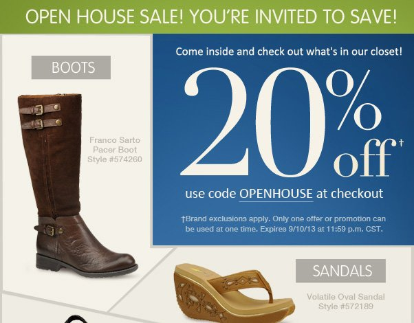 Special Open House Offer - 20% Off!