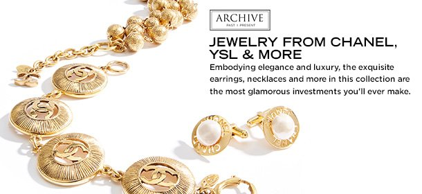 ARCHIVE: JEWELRY FROM CHANEL, YSL & MORE, Event Ends September 8, 9:00 AM PT >