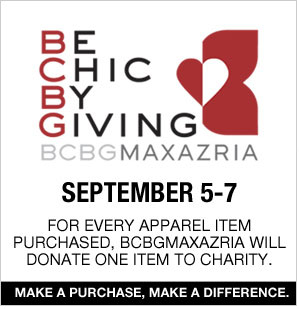 BE CHIC BY GIVING