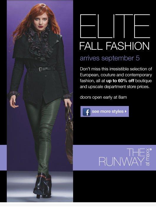 Elite fall fashion