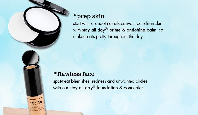 prep skin and flawless face products