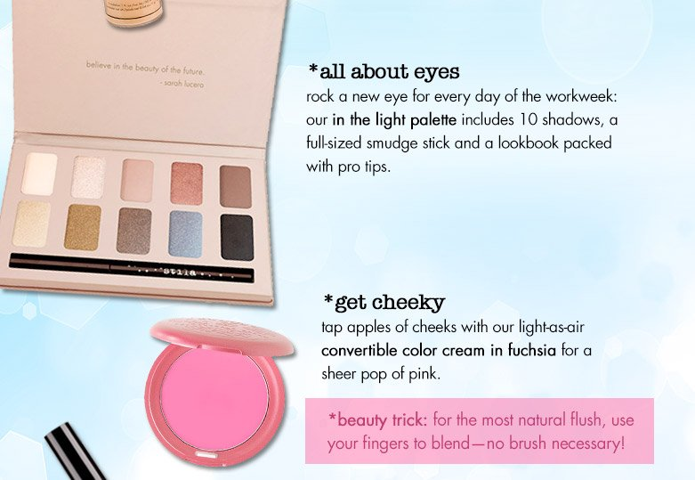 all about the eyes and get cheeky products plus a beauty trick