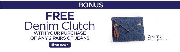 Free Denim Clutch