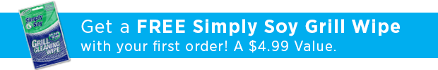 Complimentary Simply Soy Grill Wipes With First Purchase