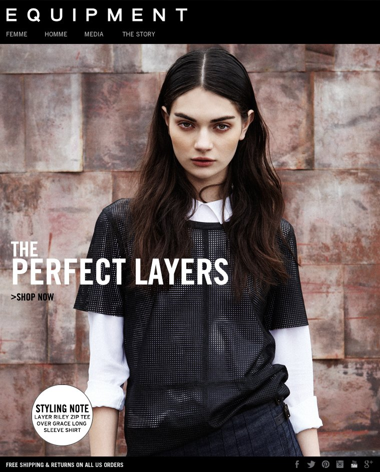 EQUIPMENT - THE PERFECT LAYERS - SHOP NOW
