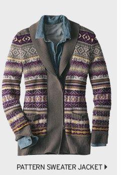 Pattern Sweater Jacket