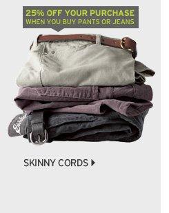 Slightly Curvy Skinny Cords