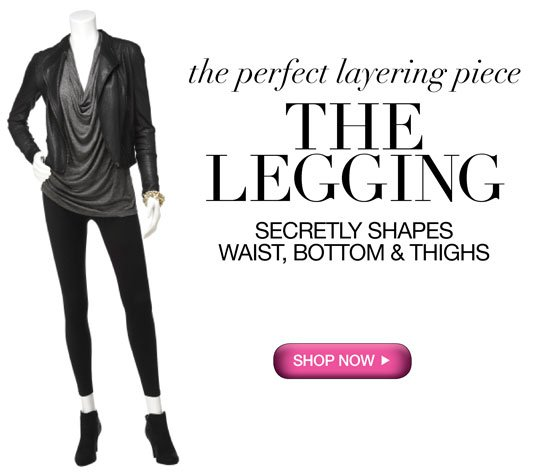 The Perfect Layering Piece: The Legging! Secretly Shapes Waist, Bottom & Thighs