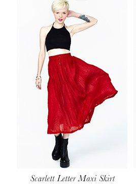 Scarlett Letter Maxi Skirt