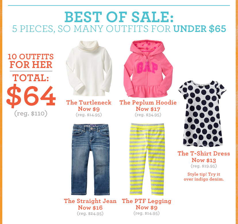 BEST OF SALE: 5 PIECES, SO MANY OUTFITS FOR UNDER $65 | 10 OUTFITS FOR HER | TOTAL: $64 (reg. $110)