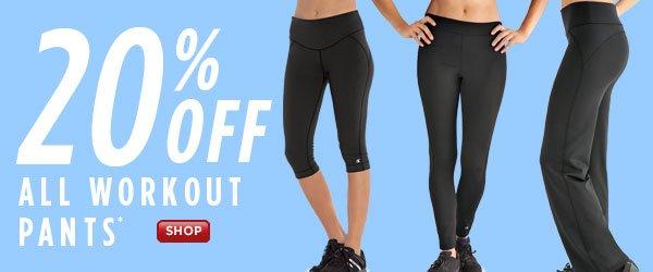 SHOP Workout Pants 20% Off