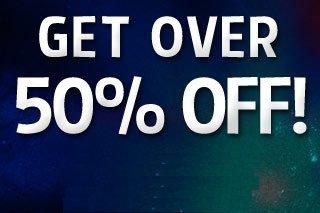 Get Over 50% Off!