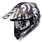 Scorpion VX-34 Oil Black Motocross Helmet