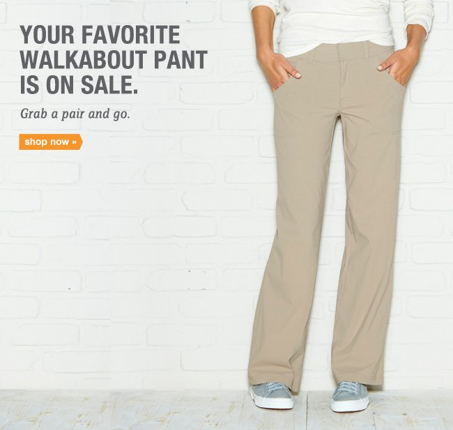 Your favorite Walkabout Pant is on sale. Shop now