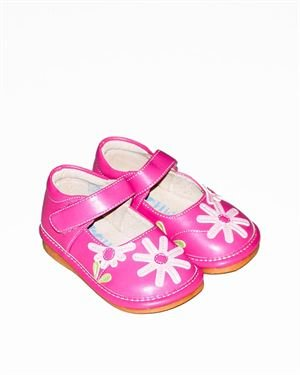 Hide&Squeak Flower Embellished Girl's Pram Shoes