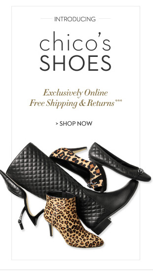 Introducing Chico's shoes. Exclusively online. Free shipping &  returns.*** SHOP NOW