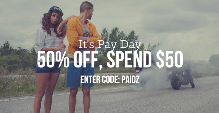 Click to shop at an extra 50% off any order of $50.
