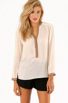 REACHING DANE TRIM BLOUSE 37