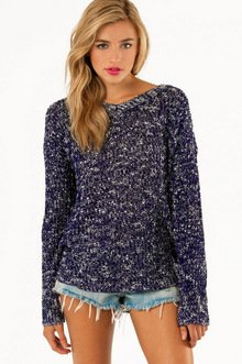 V NECK MARLED SWEATER 37