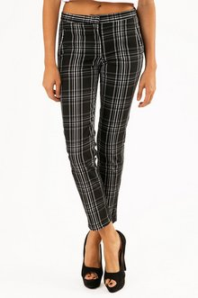 MISS PLAID PRINTED PANTS 33