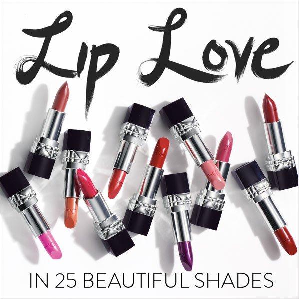 LIP LOVE IN 25 BEAUTIFUL SHADES