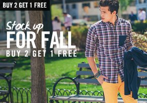 Shop Stock Up for Fall: Buy 2, Get 1 Free