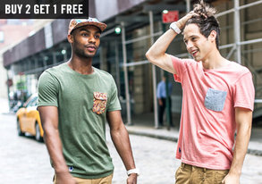 Shop Buy 2, Get 1 Free: Tees & Raglans