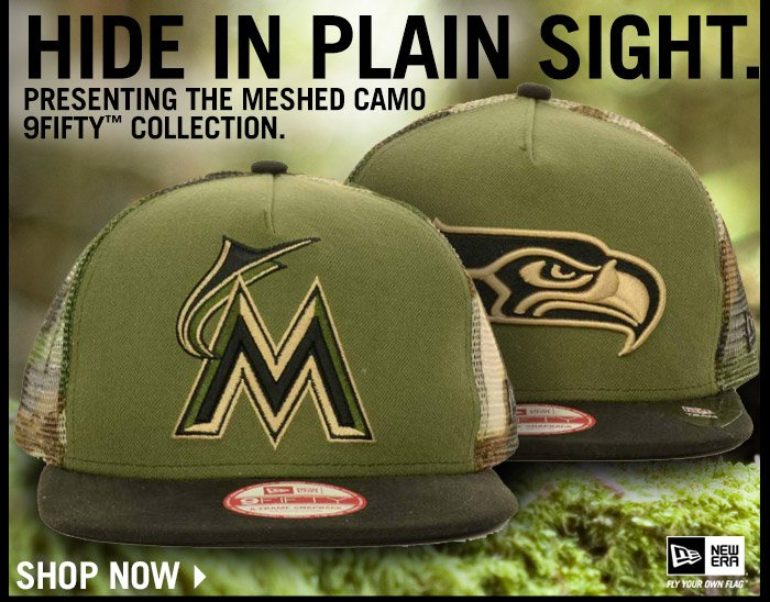 Shop the Meshed Camo 9FIFTY Snapback Collection
