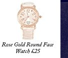 Rose Gold Round Face Watch