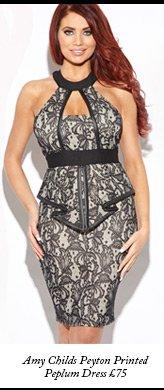 Amy Childs Peyton Printed Peplum Dress