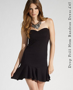 Drop Frill Hem Bandeau Dress