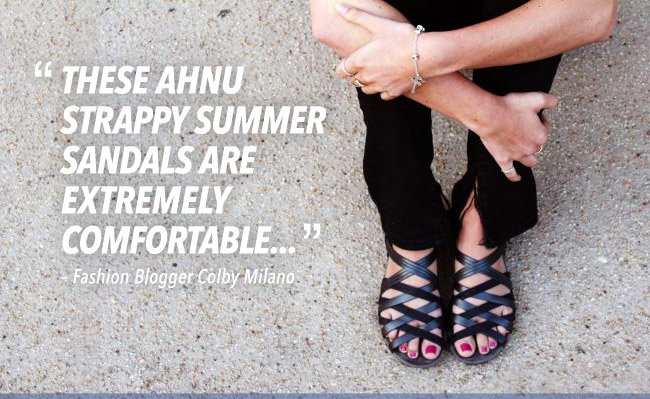 These Ahnu strappy summer sandals are extremely comfortable... – Fashion Blogger Colby Milano