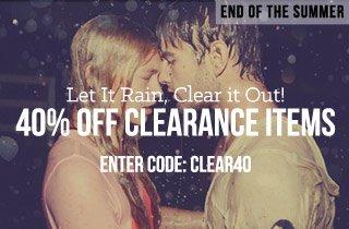 Let It Rain, Clear it Out!