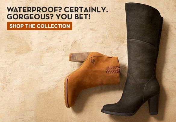 Waterproof? Certainly. Gorgeous? You bet! Shop the Collection