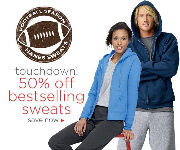 50% off Bestselling Sweats