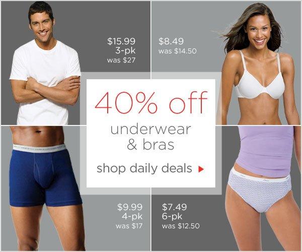 40% off Bestselling Bras & Underwear