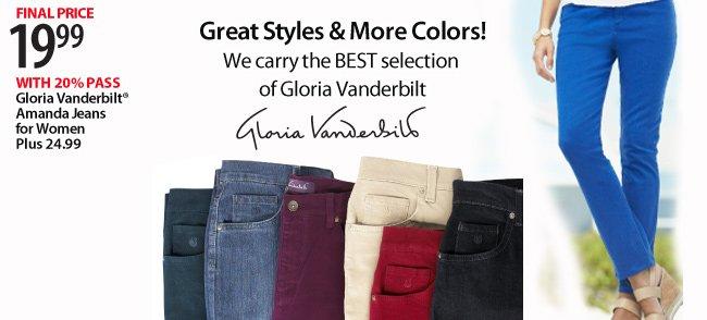 $19.99 Gloria Vanderbilt Amanda Jeans