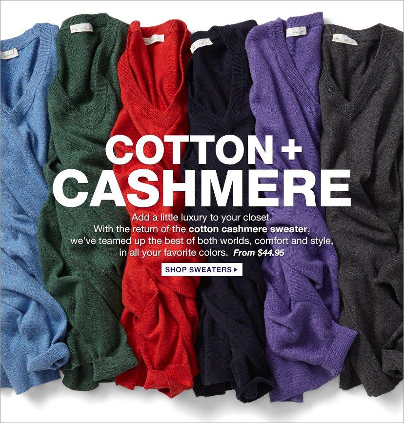 COTTON + CASHMERE | SHOP SWEATERS