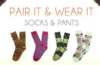 Pair It & Wear It: Socks & Pants