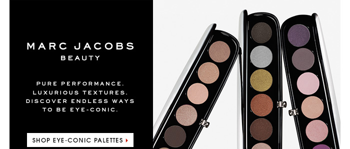 MARC JACOBS BEAUTY. Pure performance. Luxurious textures. Discover endless ways to be eye-conic. SHOP EYE-CONIC PALETTES