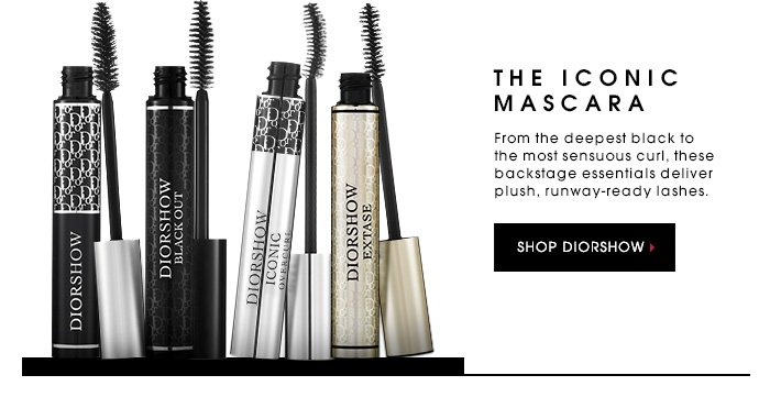 THE ICONIC MASCARA. From the deepest black to the most sensuous curl, these backstage essentials deliver plush, runway-ready lashes. SHOP DIORSHOW