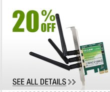 20% OFF ALL WIRELESS ADAPTERS!*