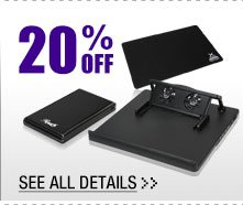 20% OFF ALL MOUSE PADS & SELECT PC ACCESSORIES!*