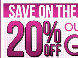 20% OFF Gift Sets All Weekend Long! Save On The Brands You Love!